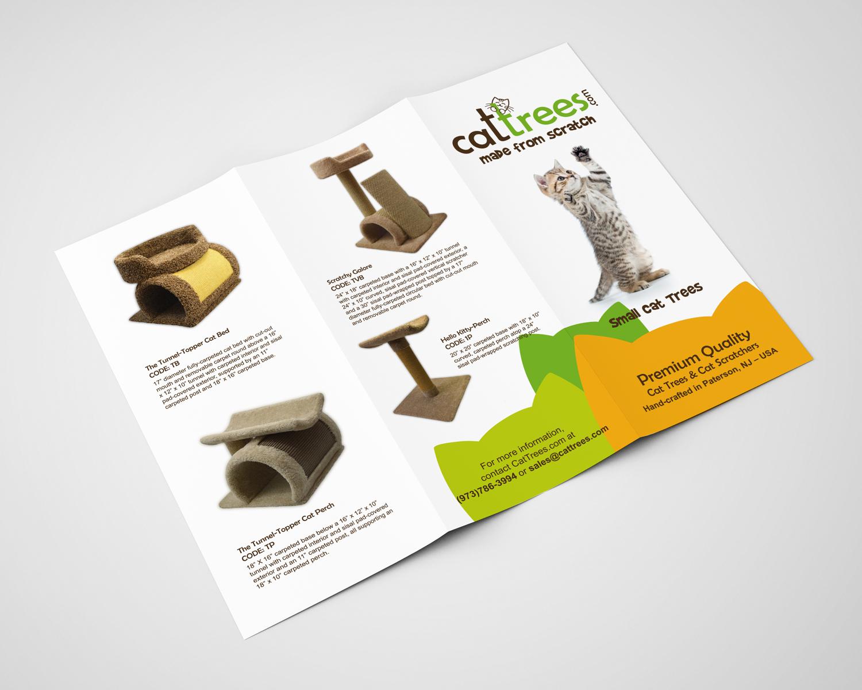 Cat Trees Brochure Design