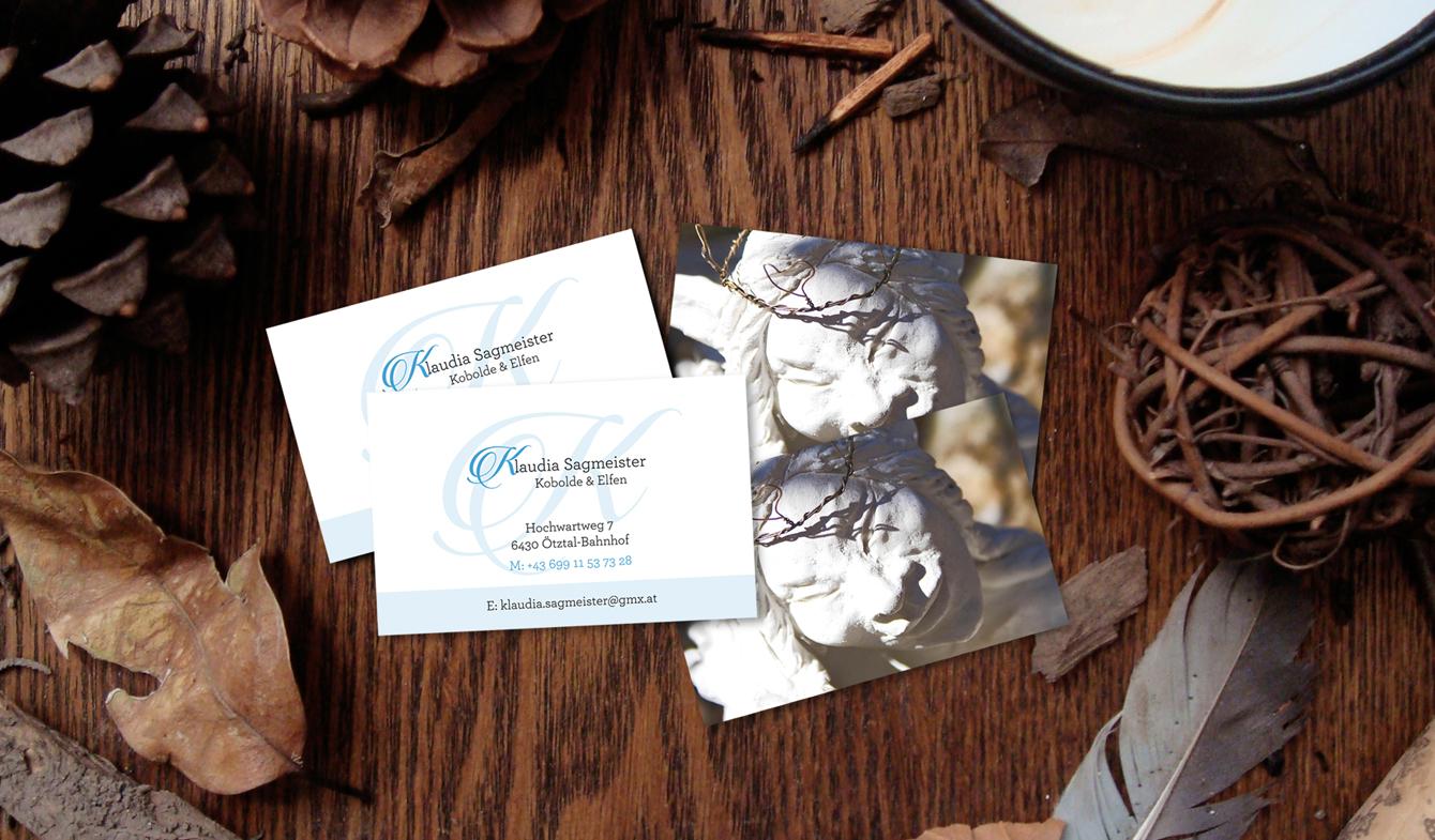Klaudia Sagmeister Business Cards a