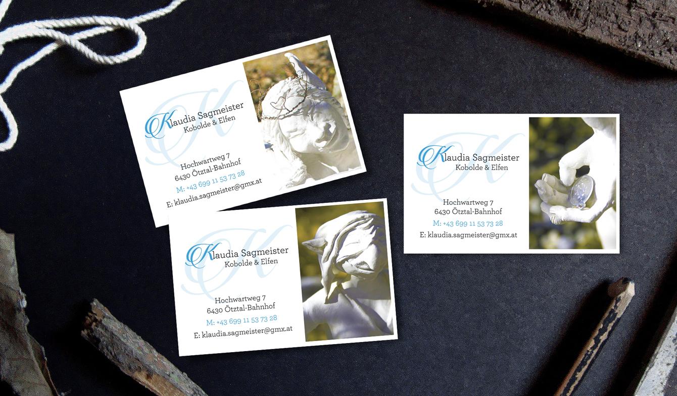 Klaudia Sagmeister Business Cards