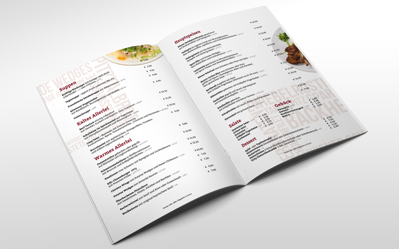Menu Design Zattl h