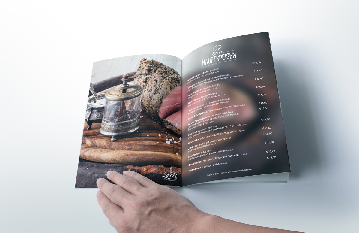 Splendid Bar Italia Menu Design c