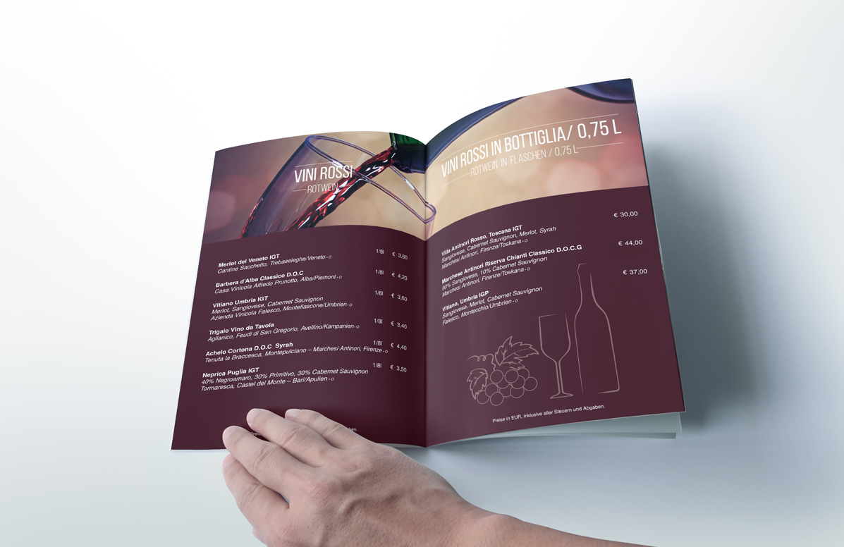 Splendid Bar Italia Menu Design g
