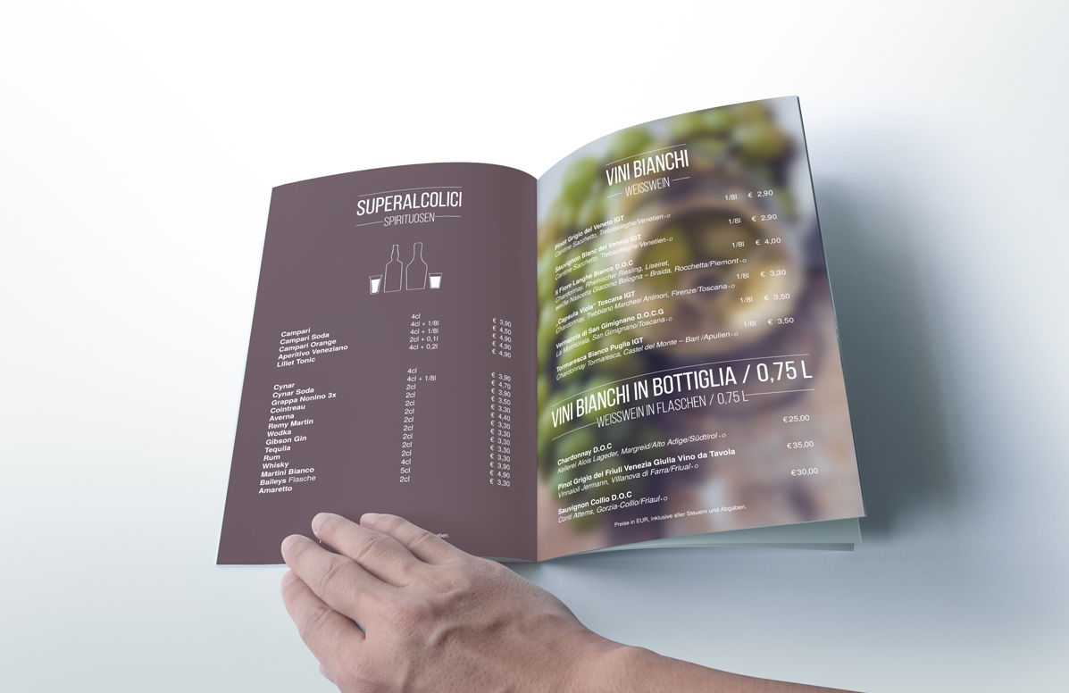 Splendid Bar Italia Menu Design h