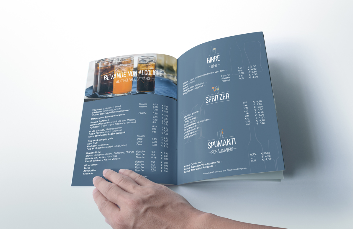 Splendid Bar Italia Menu Design k