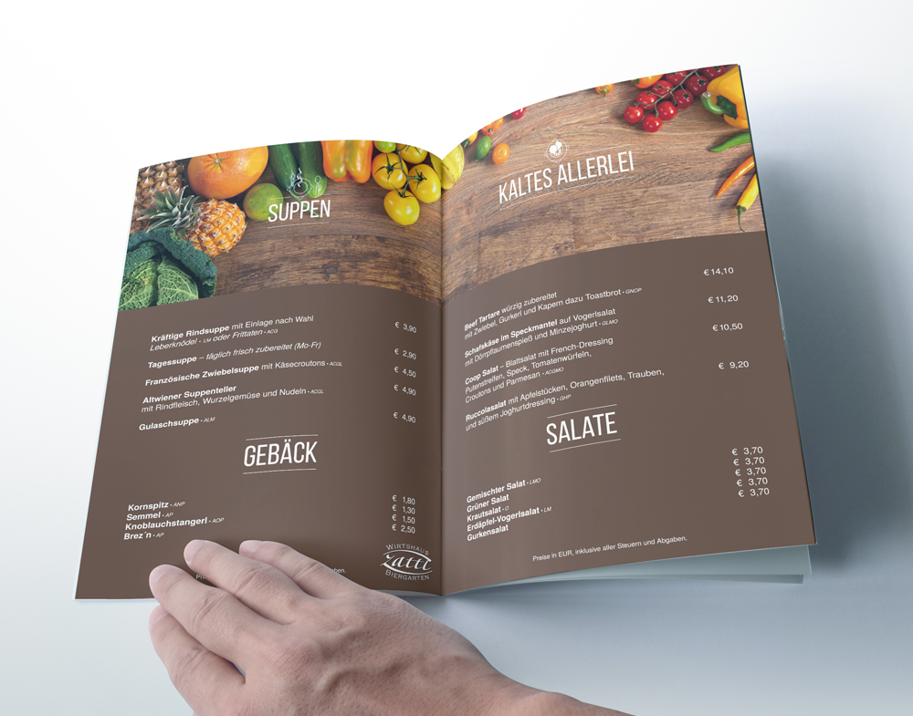 Splendid Bar Italia Menu Design k1